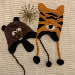 Like New Animal Fox and Otter Hats